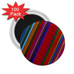 Color Stripes Pattern 2 25  Magnets (100 Pack)