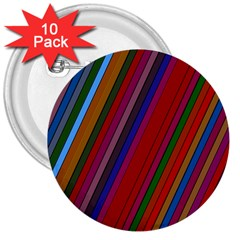 Color Stripes Pattern 3  Buttons (10 Pack)