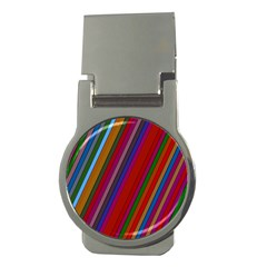 Color Stripes Pattern Money Clips (Round)