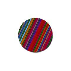 Color Stripes Pattern Golf Ball Marker (4 pack)