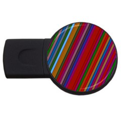 Color Stripes Pattern USB Flash Drive Round (2 GB)