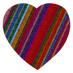 Color Stripes Pattern Jigsaw Puzzle (heart)