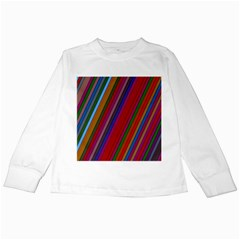 Color Stripes Pattern Kids Long Sleeve T Shirts