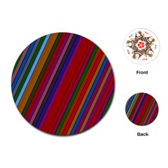Color Stripes Pattern Playing Cards (Round)
