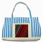 Color Stripes Pattern Striped Blue Tote Bag Front