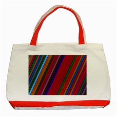 Color Stripes Pattern Classic Tote Bag (red)