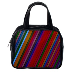 Color Stripes Pattern Classic Handbags (one Side)