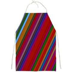 Color Stripes Pattern Full Print Aprons