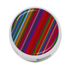 Color Stripes Pattern 4 Port Usb Hub (one Side)