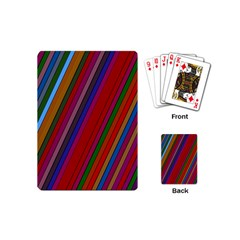 Color Stripes Pattern Playing Cards (mini)