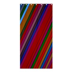 Color Stripes Pattern Shower Curtain 36  X 72  (stall)