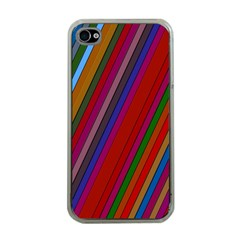 Color Stripes Pattern Apple iPhone 4 Case (Clear)