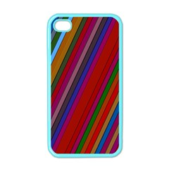 Color Stripes Pattern Apple Iphone 4 Case (color)
