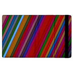 Color Stripes Pattern Apple iPad 2 Flip Case
