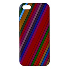 Color Stripes Pattern Apple iPhone 5 Premium Hardshell Case