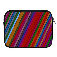 Color Stripes Pattern Apple Ipad 2/3/4 Zipper Cases