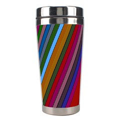 Color Stripes Pattern Stainless Steel Travel Tumblers