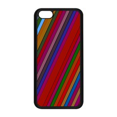 Color Stripes Pattern Apple Iphone 5c Seamless Case (black)