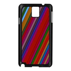 Color Stripes Pattern Samsung Galaxy Note 3 N9005 Case (Black)