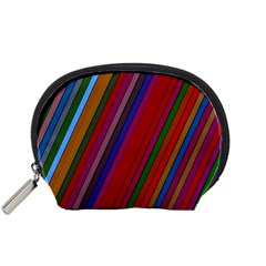 Color Stripes Pattern Accessory Pouches (Small)