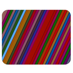 Color Stripes Pattern Double Sided Flano Blanket (Medium)