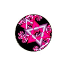 Star Of David On Black Hat Clip Ball Marker (10 Pack)