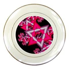 Star Of David On Black Porcelain Plates