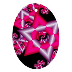 Star Of David On Black Oval Ornament (Two Sides)