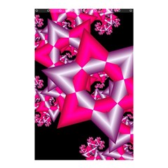 Star Of David On Black Shower Curtain 48  X 72  (small)
