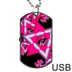 Star Of David On Black Dog Tag USB Flash (Two Sides) Front