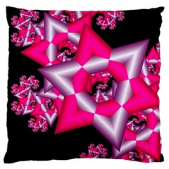 Star Of David On Black Large Cushion Case (Two Sides)