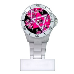 Star Of David On Black Plastic Nurses Watch