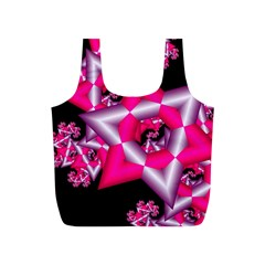 Star Of David On Black Full Print Recycle Bags (S)