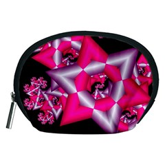 Star Of David On Black Accessory Pouches (Medium)