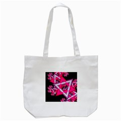 Star Of David On Black Tote Bag (white)