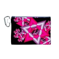 Star Of David On Black Canvas Cosmetic Bag (M)