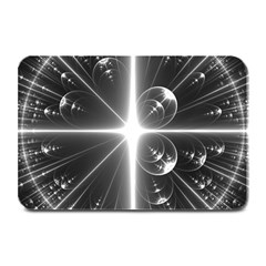 Black And White Bubbles On Black Plate Mats