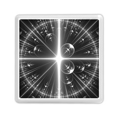 Black And White Bubbles On Black Memory Card Reader (square)