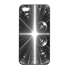 Black And White Bubbles On Black Apple Iphone 4/4s Seamless Case (black)