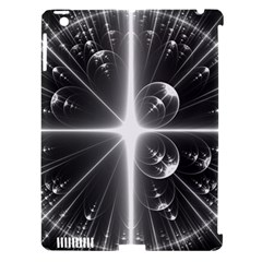 Black And White Bubbles On Black Apple iPad 3/4 Hardshell Case (Compatible with Smart Cover)