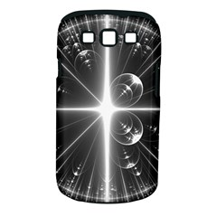 Black And White Bubbles On Black Samsung Galaxy S III Classic Hardshell Case (PC+Silicone)