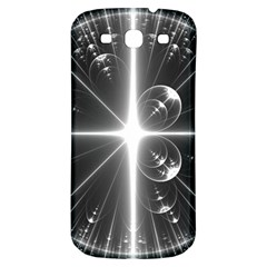 Black And White Bubbles On Black Samsung Galaxy S3 S Iii Classic Hardshell Back Case