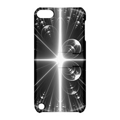 Black And White Bubbles On Black Apple iPod Touch 5 Hardshell Case with Stand