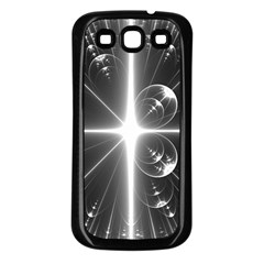Black And White Bubbles On Black Samsung Galaxy S3 Back Case (black)