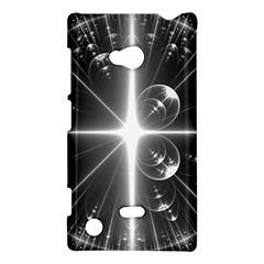 Black And White Bubbles On Black Nokia Lumia 720