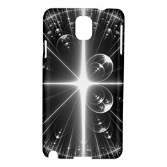 Black And White Bubbles On Black Samsung Galaxy Note 3 N9005 Hardshell Case