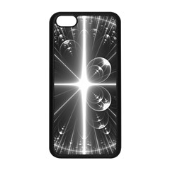 Black And White Bubbles On Black Apple iPhone 5C Seamless Case (Black)