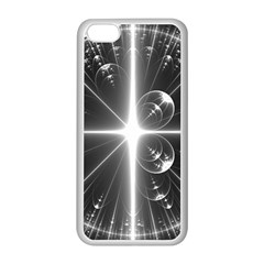 Black And White Bubbles On Black Apple Iphone 5c Seamless Case (white)