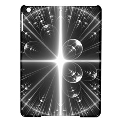 Black And White Bubbles On Black Ipad Air Hardshell Cases