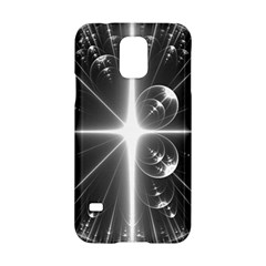 Black And White Bubbles On Black Samsung Galaxy S5 Hardshell Case